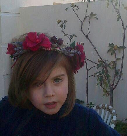 Corona de rosas de terciopelo vintage.!!