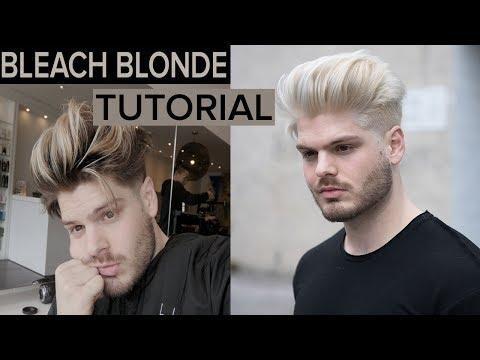 Platinum Blonde Men S Hair Tutorial 2017 Hairstyles For