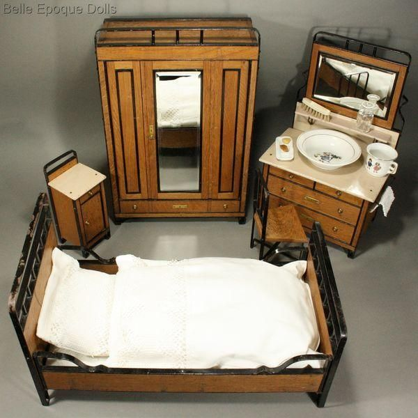 Wooden Bedroom Furniture for Bleuette Doll from belle-epoque-dolls - Lane Bedroom Furniture