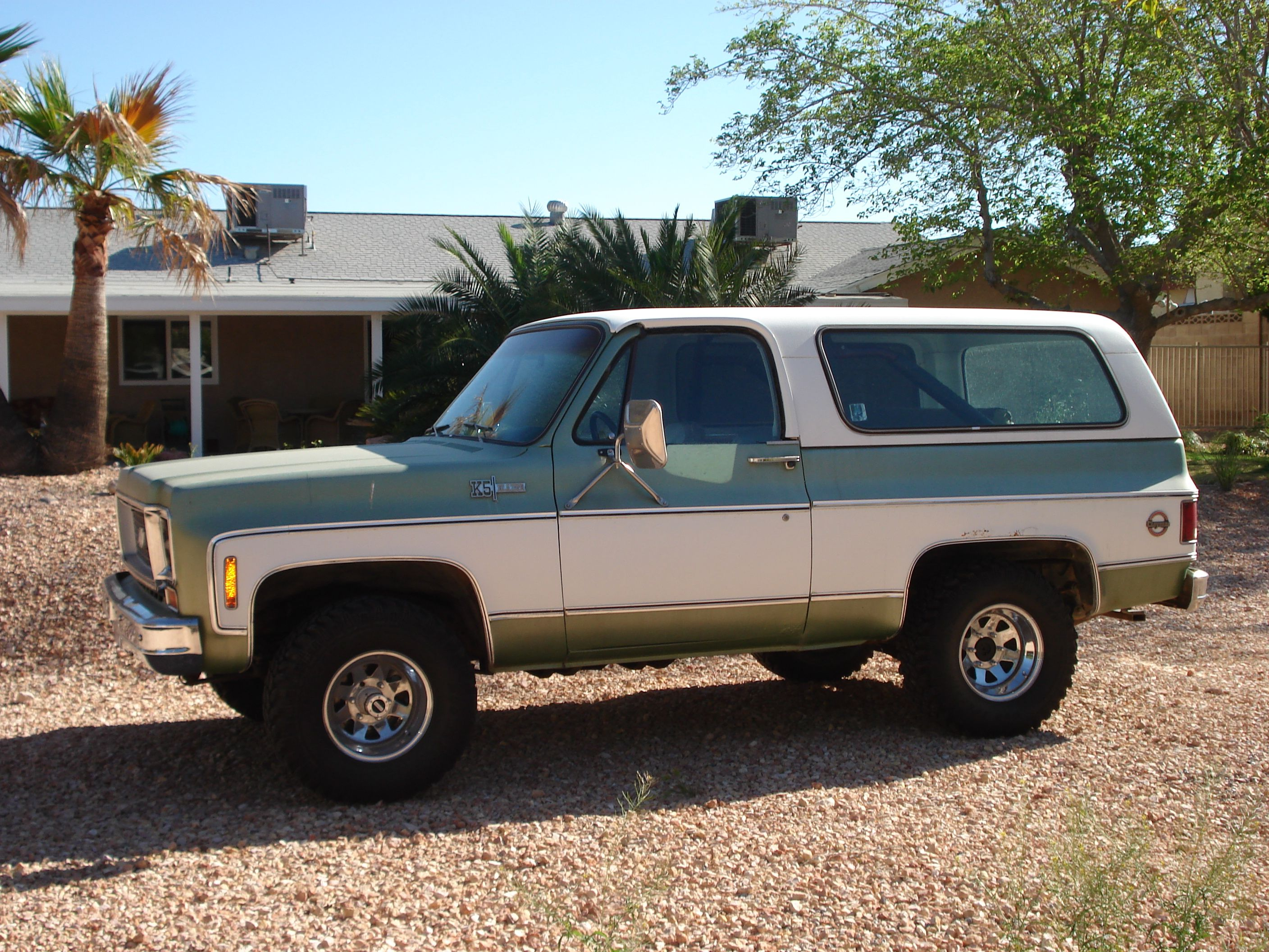 The 1974 chevy blazer my dad taught me to drive when i was 16 brings back so many happy memories