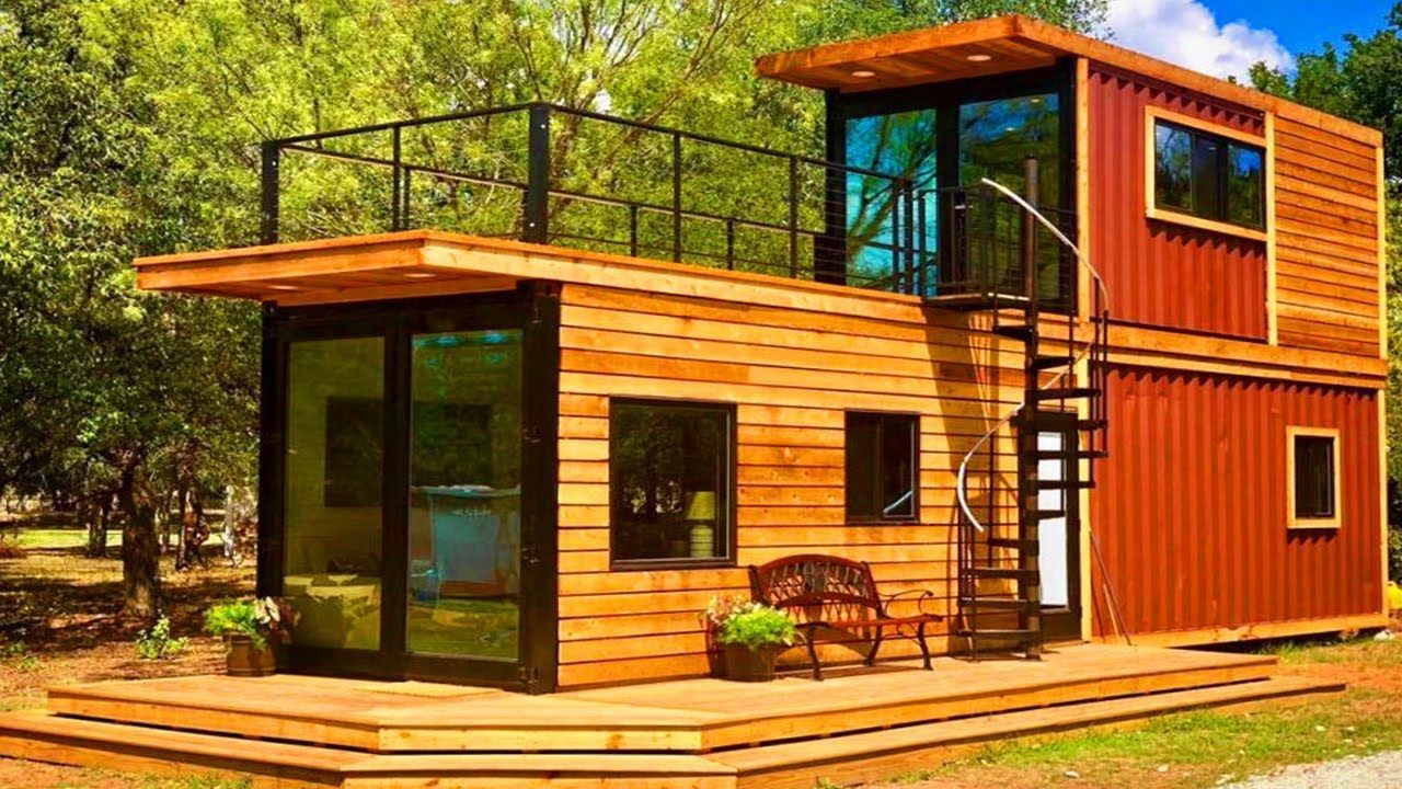 Amazing Helm Two Story Shipping Container Tiny Home Texas