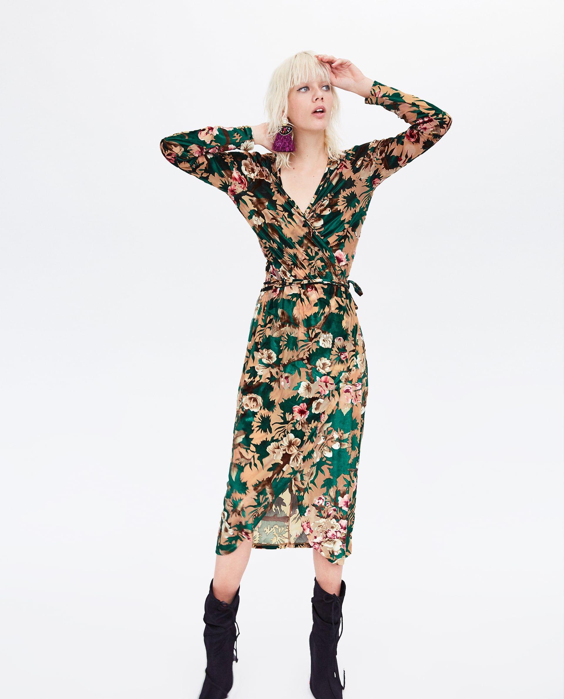 VELVET DRESS | Zara velvet dress, Dresses, Fashion