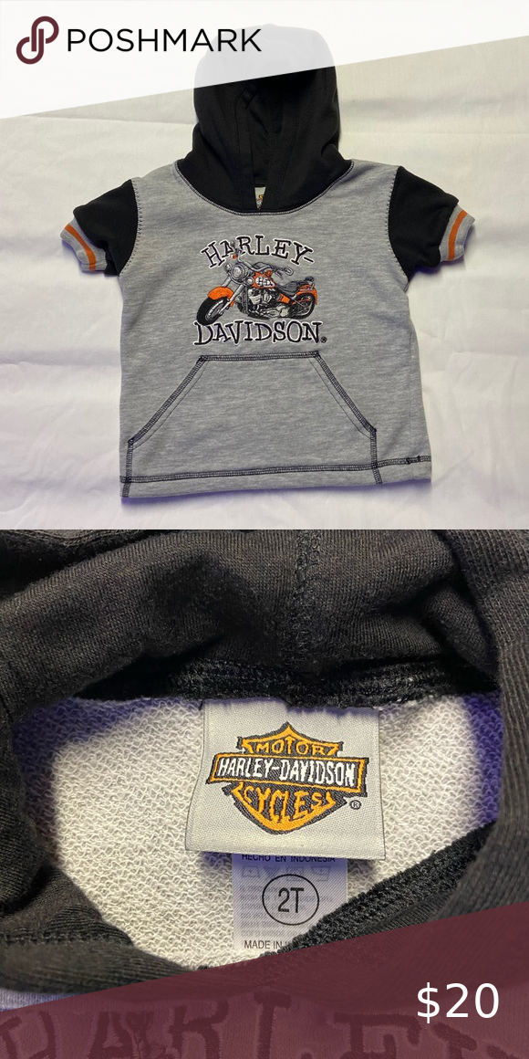 Harley-Davidson Men/'s Orange Bar /& Shield Navy Pullover Sweatshirt 30291742
