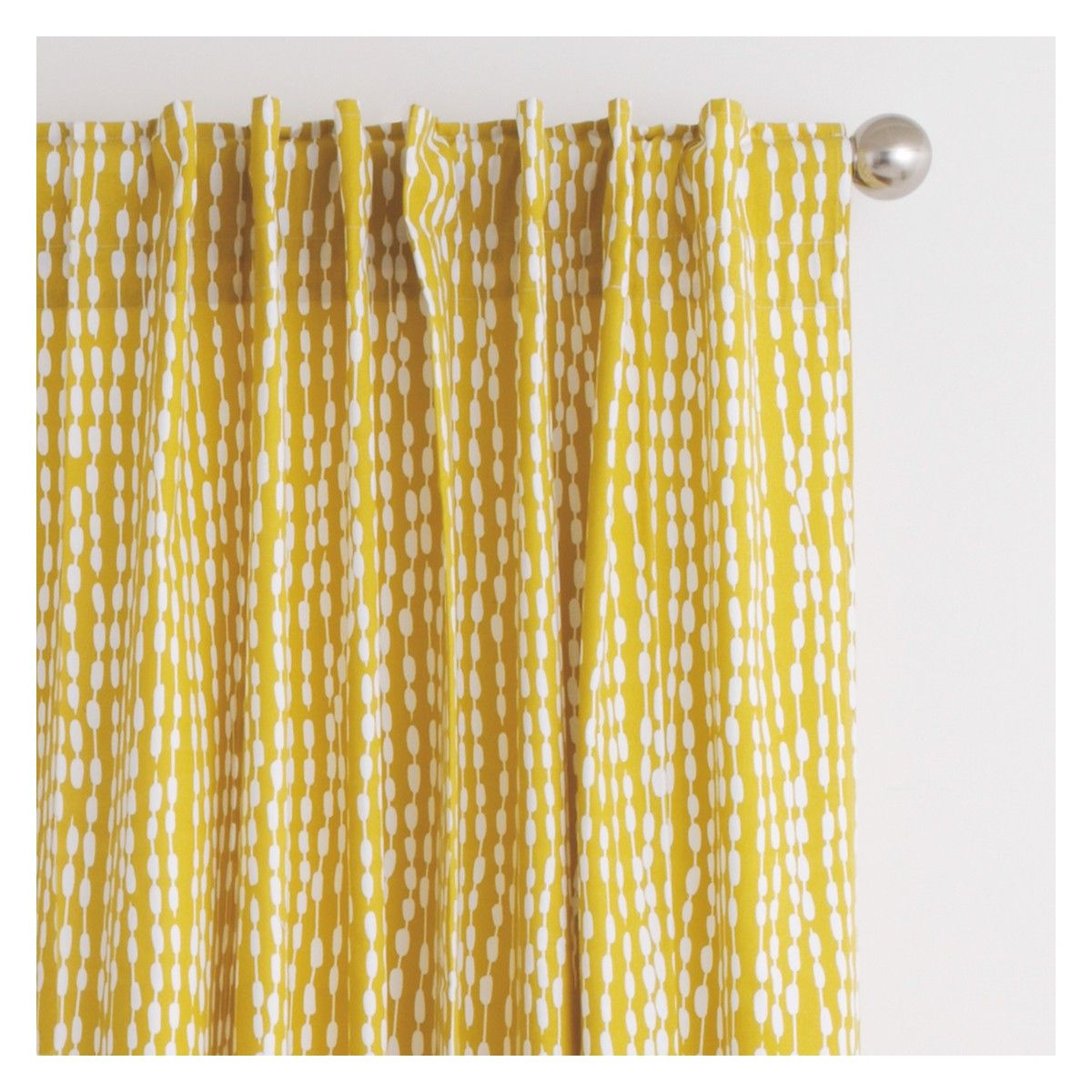 Yellow patterned curtains - Trene Pair Of Mustard Yellow Patterned Curtains 145 X 280cm