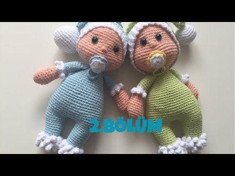 Amigurumi Yapılışı : Amigurumi emzikli uykucu bebek kol kafa şapka emzik yapımı 2 bölüm