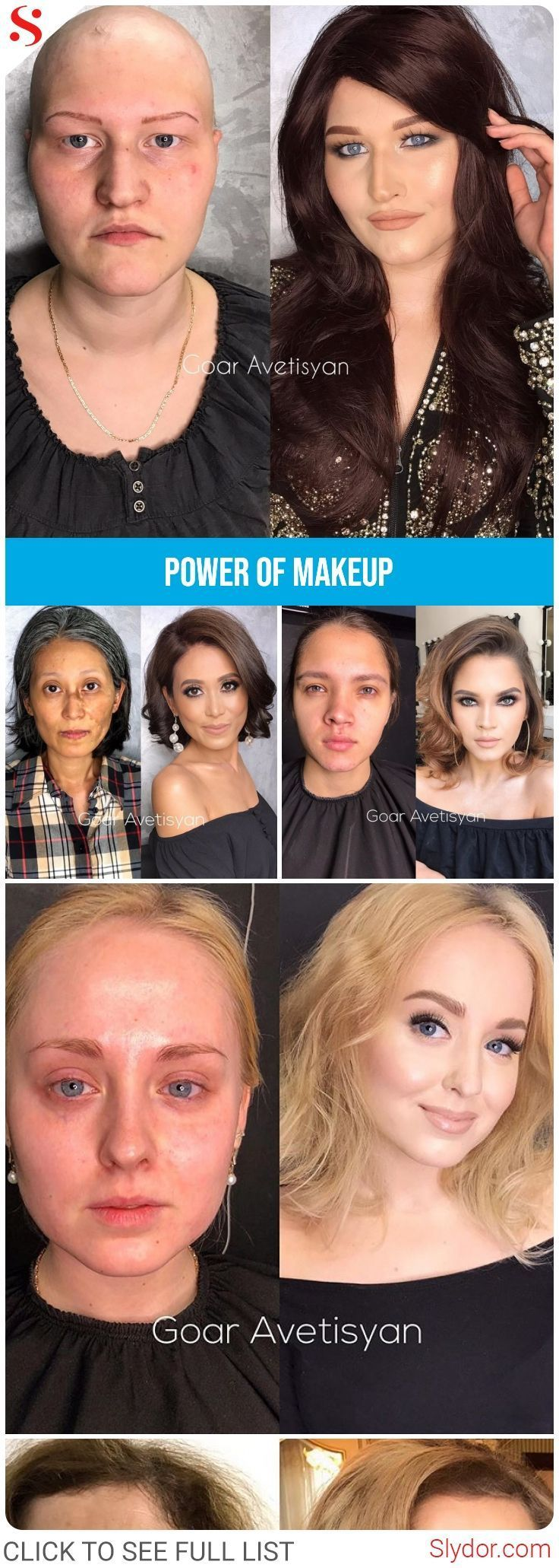 Epic Makeup Transformations That Will Give You A Shock #makeup # transformation #beauty #instagram #goar #talent #amazing #epic #slydor
