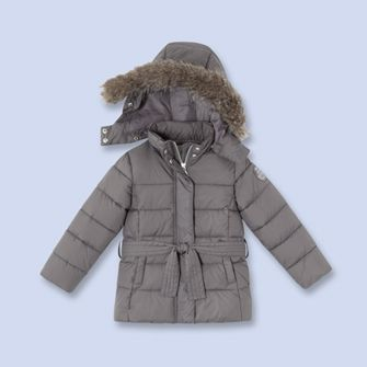 ae2d31a54 Quilted puffer jacket - Girl - GRAVEL GREY - Jacadi Paris
