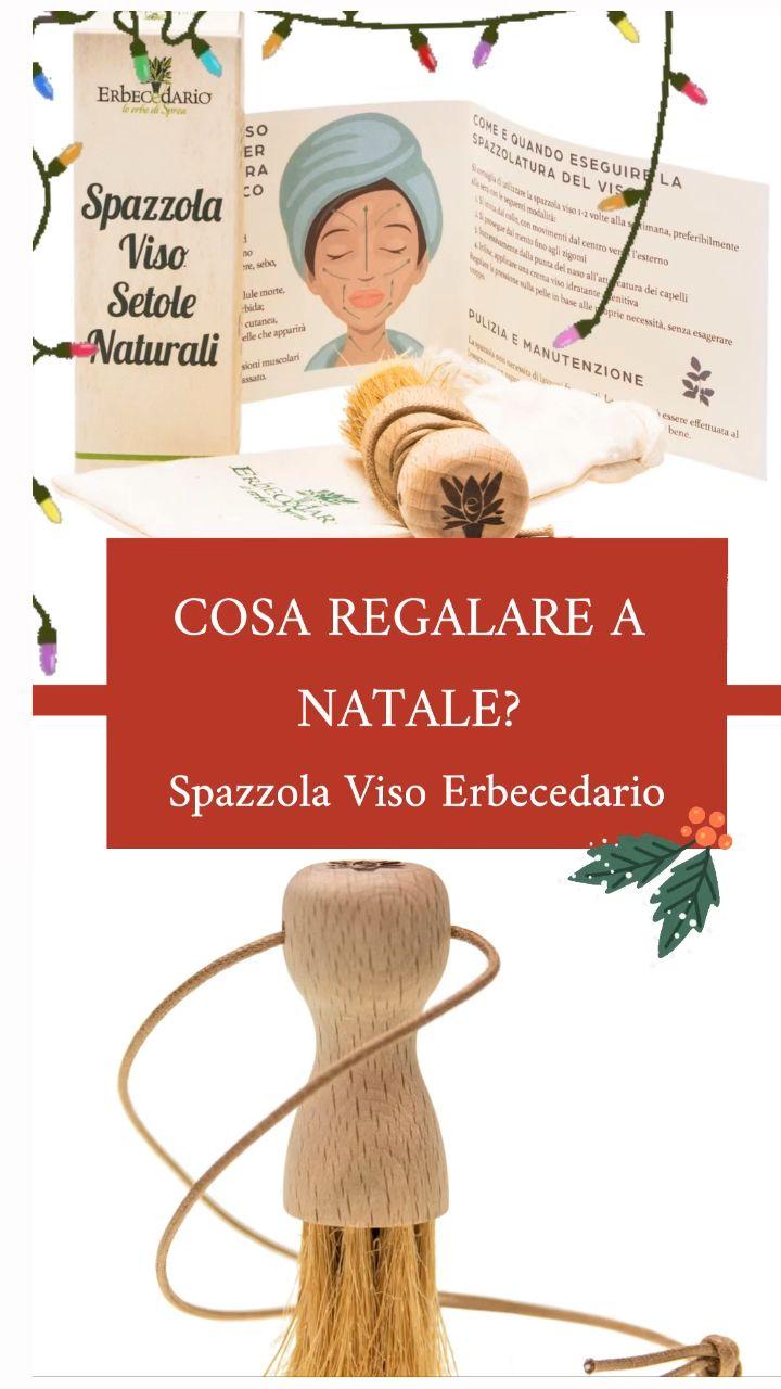 Idea Regalo Natale Spazzola Viso Naturale Erboristeria Erbecedario Bellezza Viso
