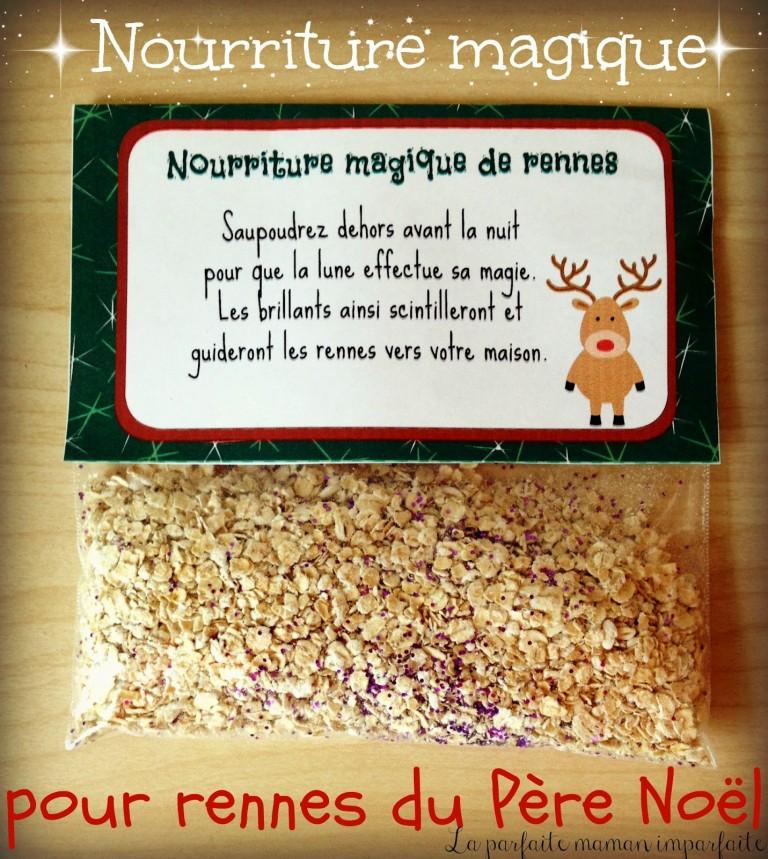 Nourriture magique de rennes | #lutindenoel