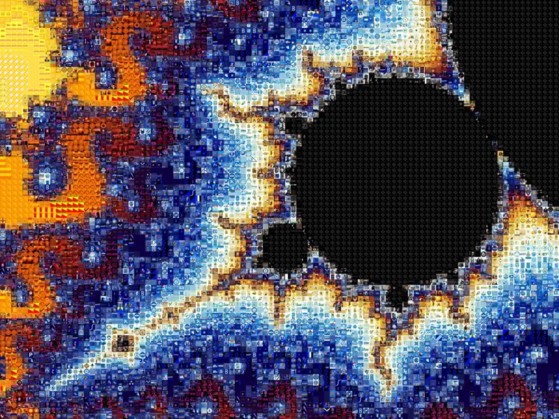 'Mandelbrot Set', a zoomable photo tile mosaic at TileArray   #MandelbrotSet #Mandelbrot #fractal #fractals #math #mathematics #TileArray