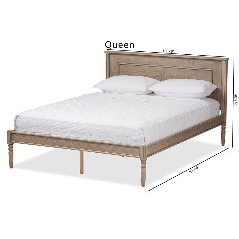 Wageningen Platform Bed Wood Platform Bed Upholstered Platform