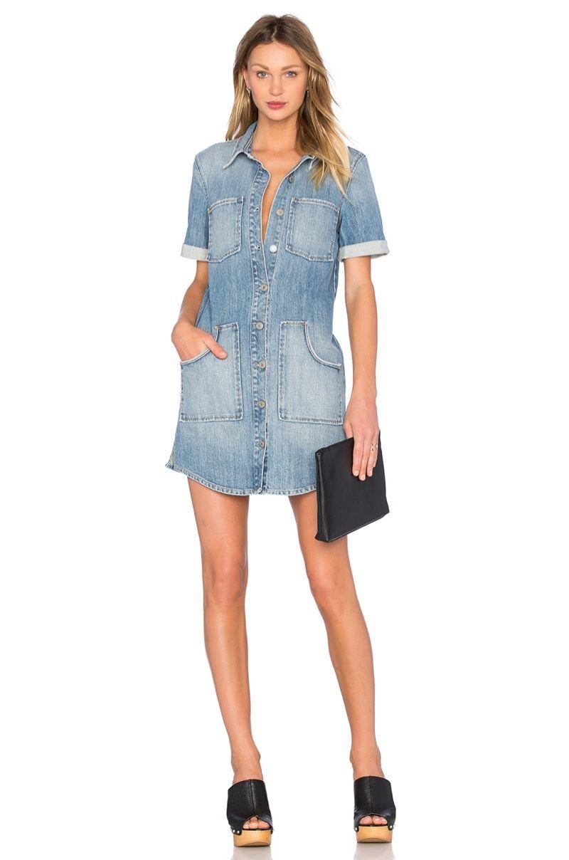 cbc4a895f7 GRLFRND Miranda Denim Short Dress in Mockingbird