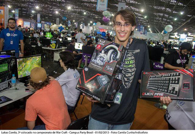 3º lugar no campeonato de Warcraft - By campuspartybrasil (CC BY-SA 2.0)