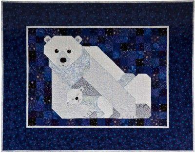 Polar Bear Patchwork Quilt Pattern: