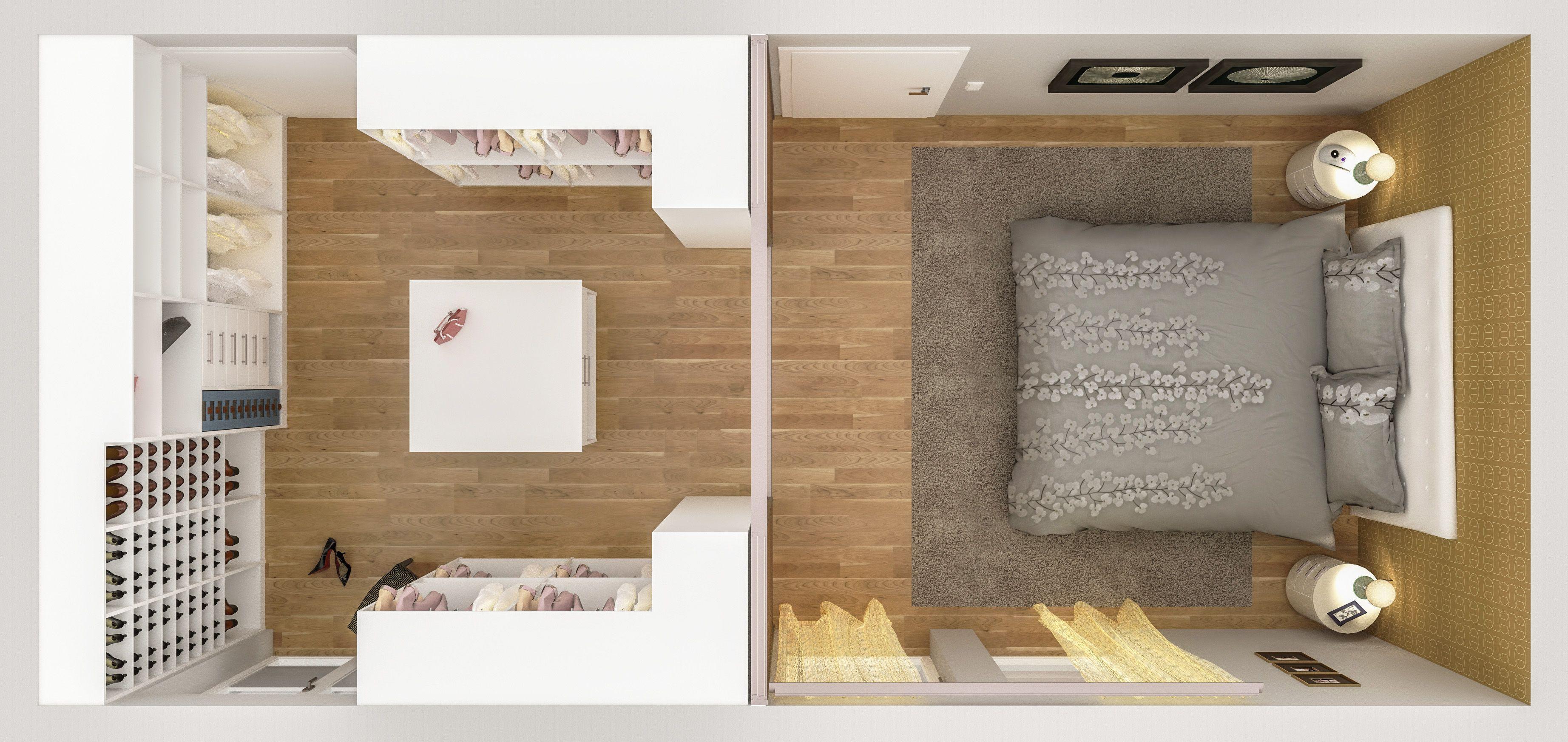 schlafzimmer mit ankleidezimmer