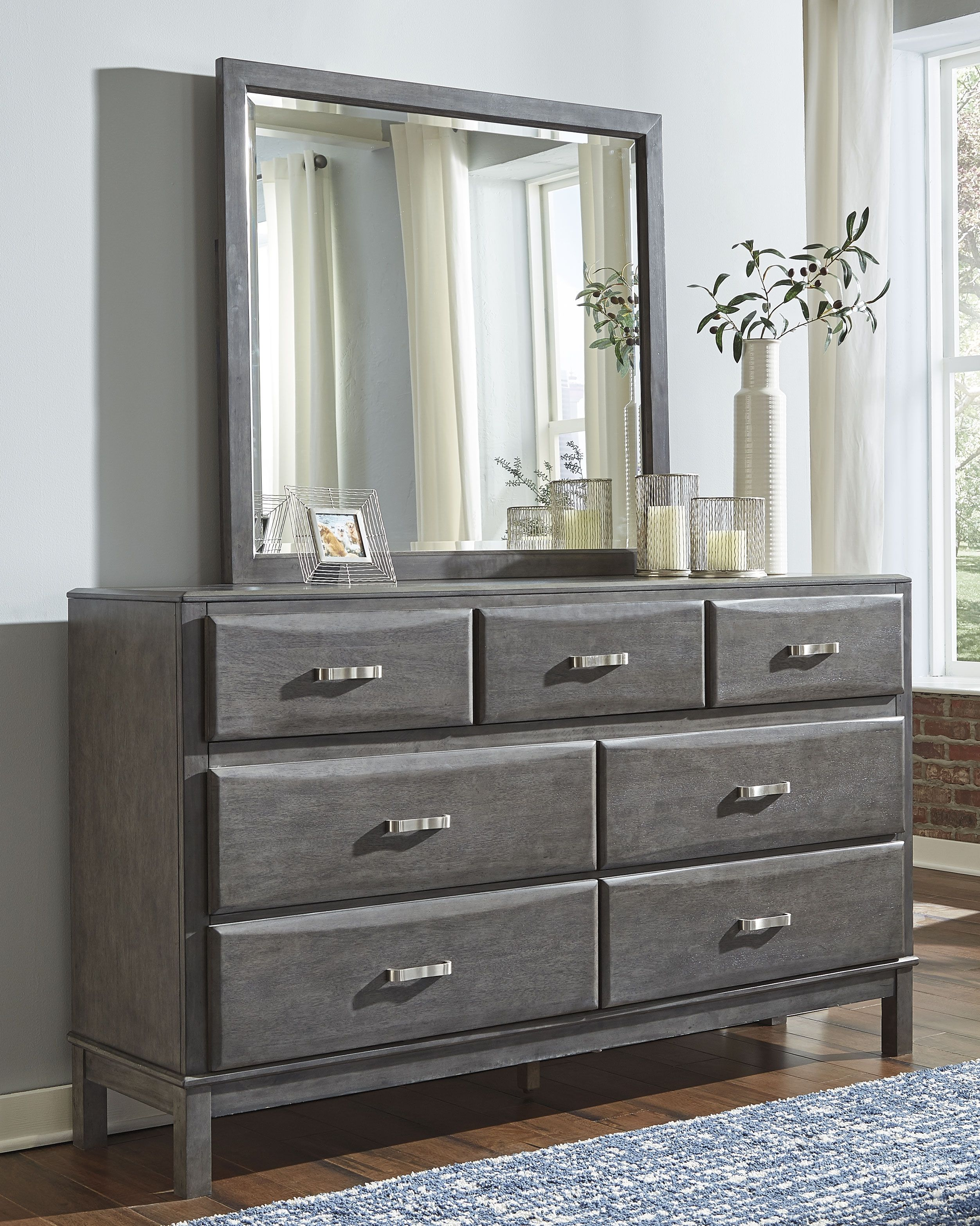 Caitbrook Dresser And Mirror Gray In 2020 Furniture