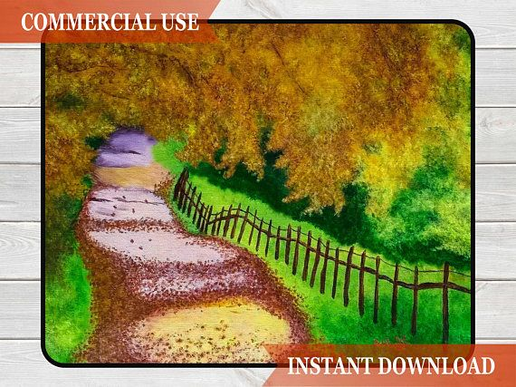 Fall Art, Digital Download Painting, Landscape Painting, Fall