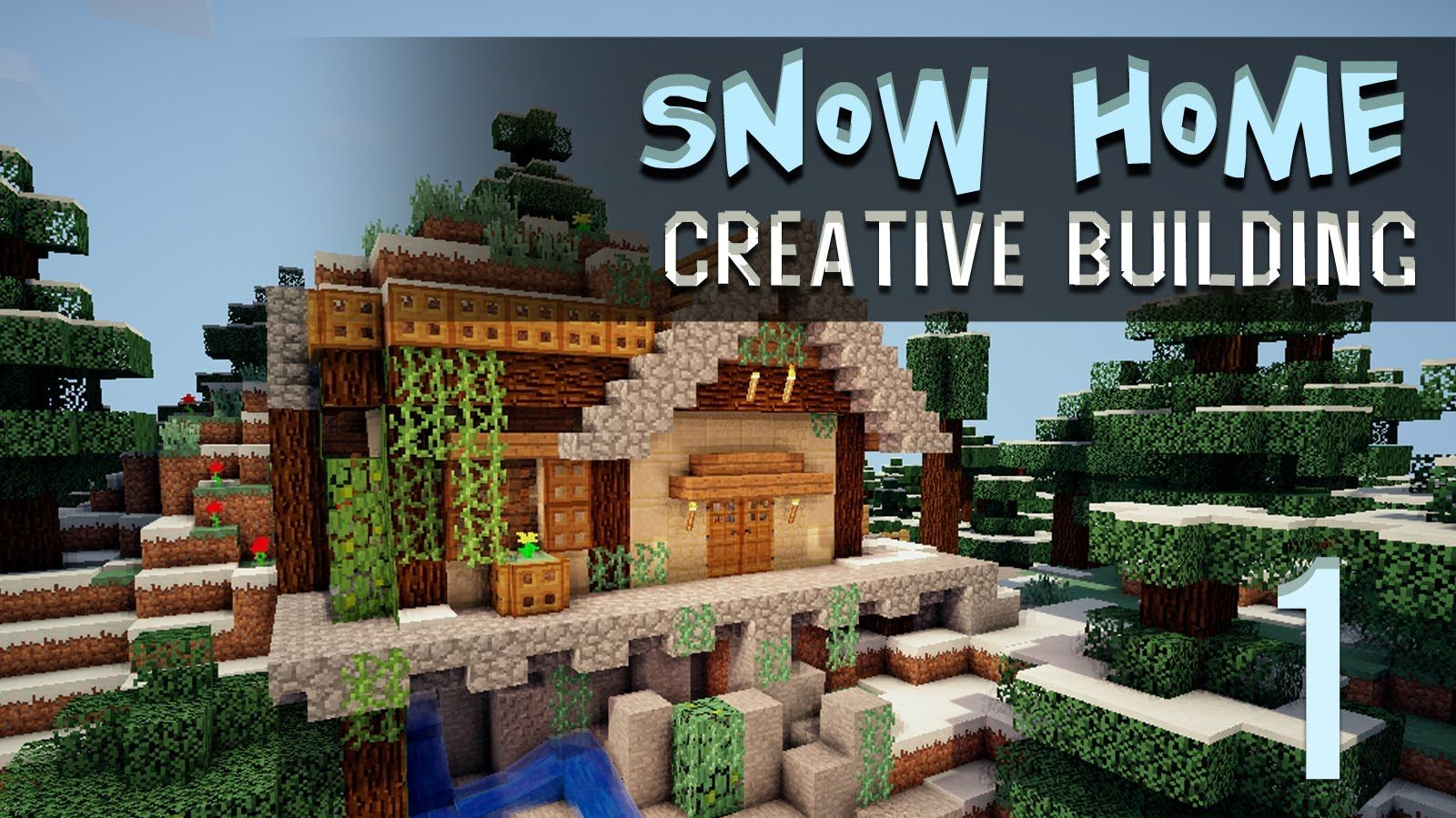 Minecraft Creative Build Snowy Hobo Hill House Part 1 Youtube