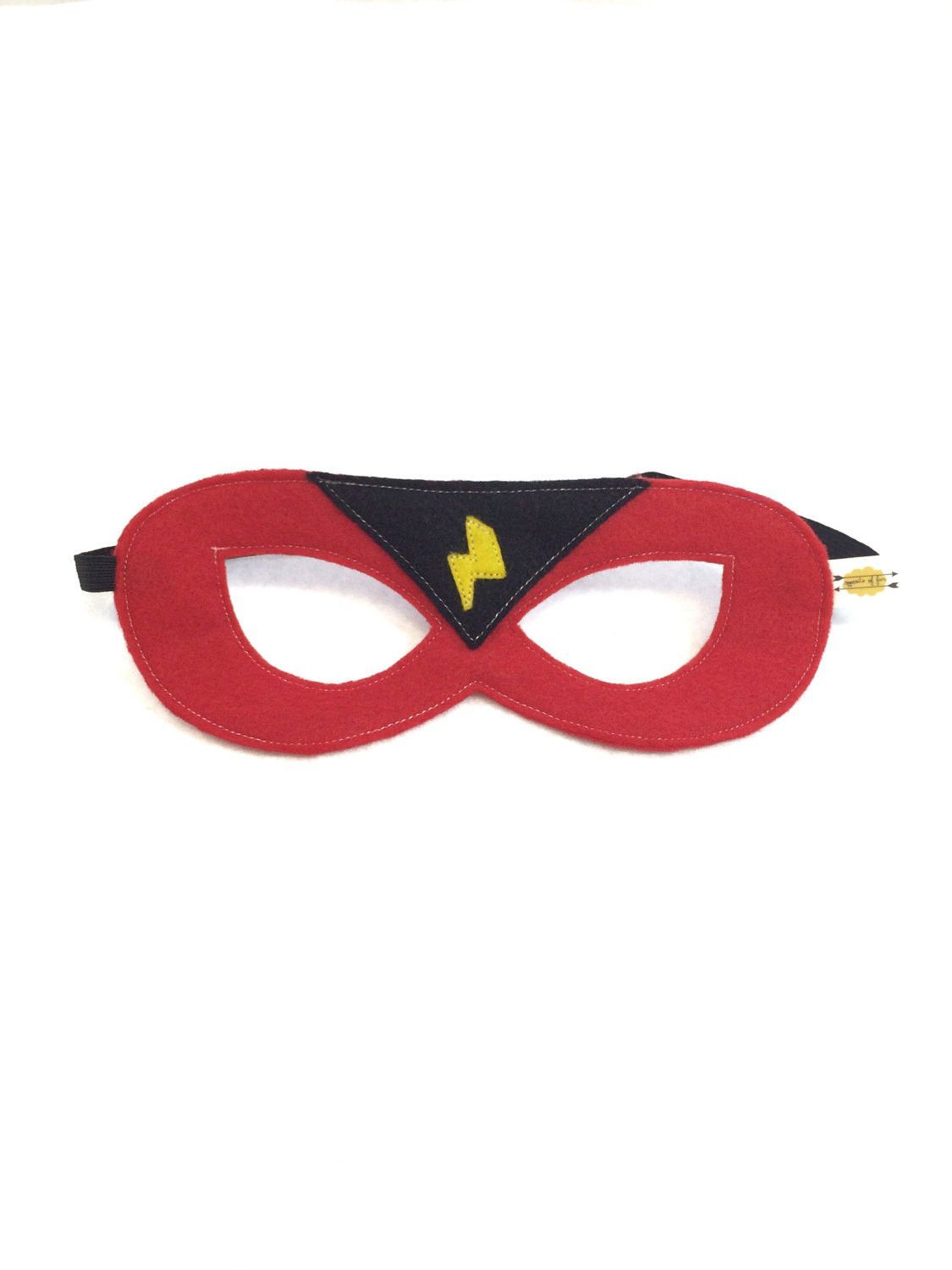 Red superhero mask with black triangle and yellow lightning bolt red superhero mask with black triangle and yellow lightning bolt buycottarizona Image collections