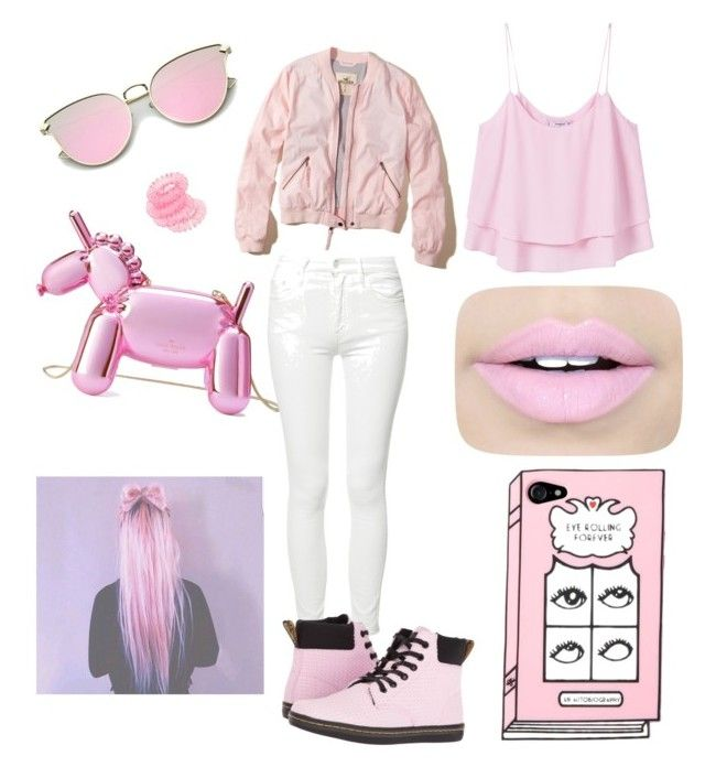 """""""""""pink"""" you say?"""" by jinks583 on Polyvore featuring Kate Spade, Fiebiger, Hollister Co., Mother, Miss Selfridge, MANGO and Dr. Martens"""