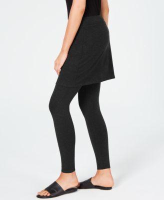 40e75ec957ff24 Eileen Fisher Stretch Jersey Knit Skirted Leggings, Regular & Petite,  Created for Macy's - Black XXS
