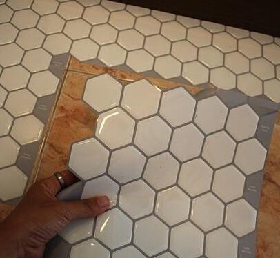 2018 trend apartment decorating items self stick vinyl tile peel and stick mosaic