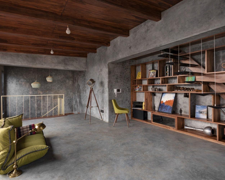 Gallery Of Veranda On A Roof Studio Course 12 Concrete Interiors Cement House Space Interiors