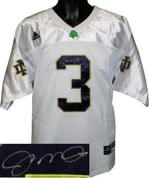 e66e247f0 Autographed Joe Montana Jersey - Adidas White Official Hologram - Autographed  College Jerseys by Sports Memorabilia