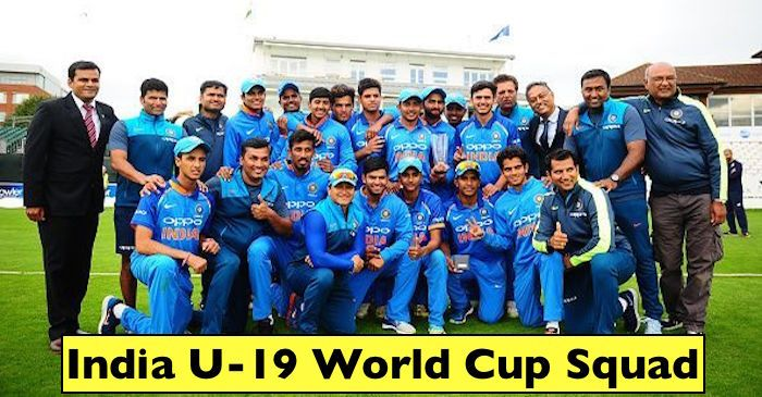 India S Squad For The 2018 Under 19 World Cup Announced U 19 World Cup International Cup