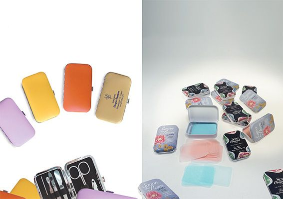 Nail set/hand soap sheets in tin box