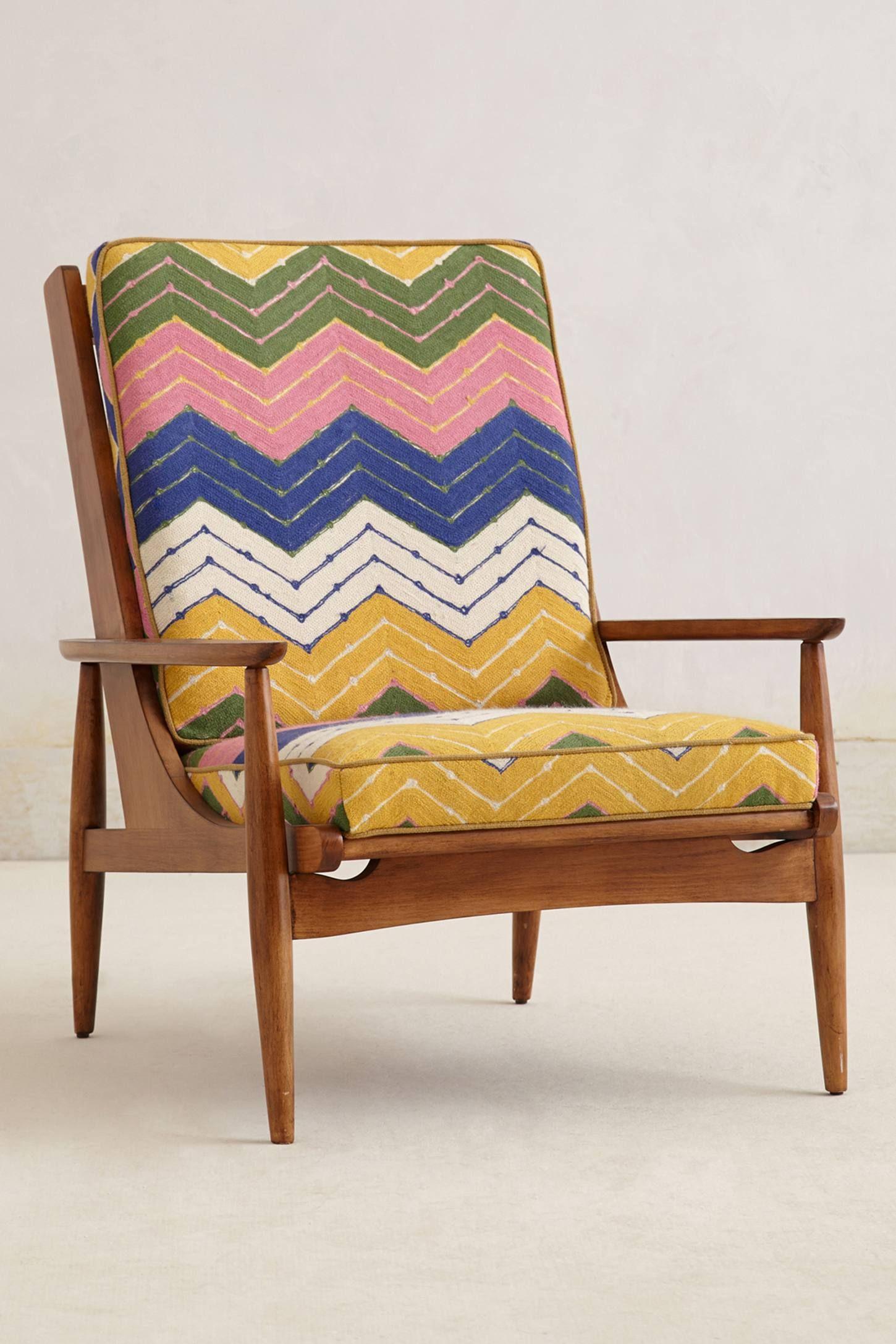 Best Hanne Chevron Armchair Anthropologie Com Furniture 400 x 300