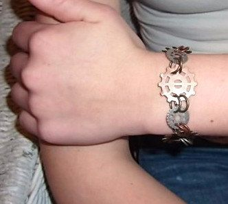Gears Galore Steampunk Bracelet by BranchingOutFurther on Etsy,