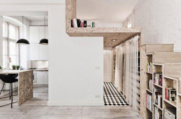 detalles del escaleras y cocina