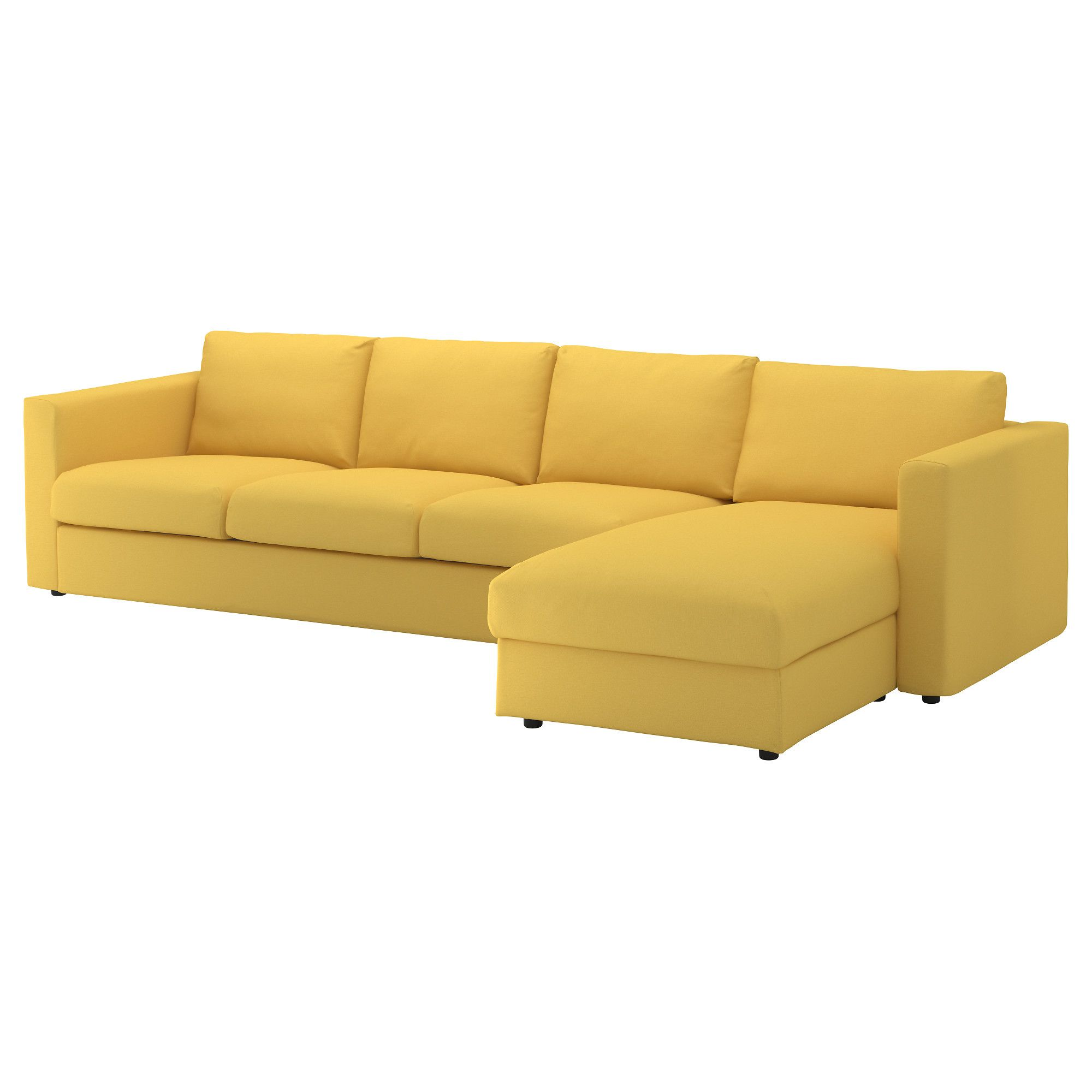 Orrsta Golden Yellow: VIMLE Sectional, 4-seat With Chaise, Orrsta Golden