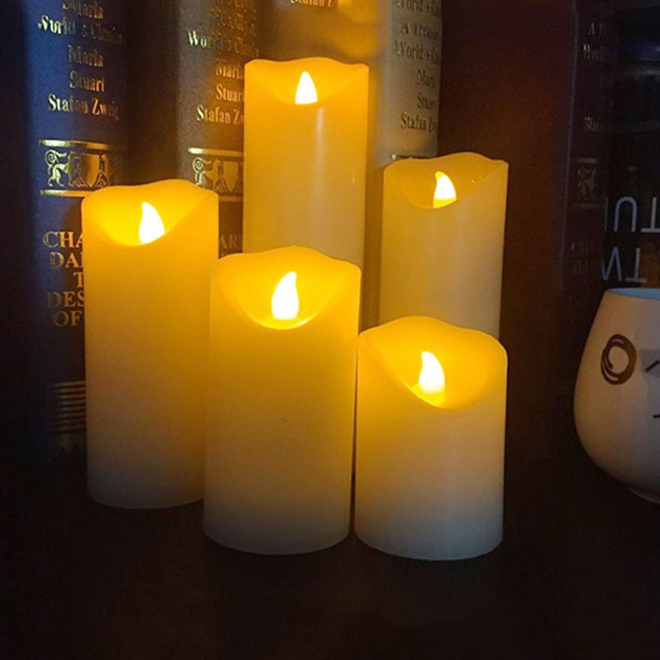 Flameless led electronic candlemade by real wax with ficker light