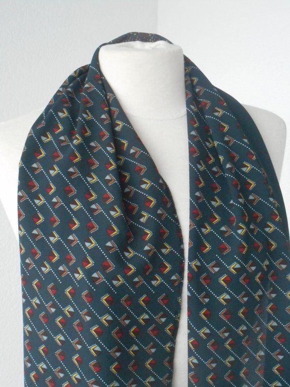 écharpe foulard snood étole femme  gris noir ocre rouge  créateur lin eva 598e7d09e9a