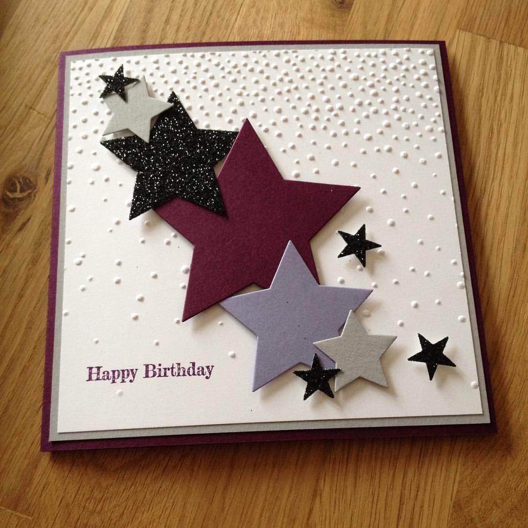 """Janina on Instagram: """"Schnell eine Geburtstagskarte für die liebe Patentante, Schwester und Schwägerin gemacht... später gehts zu Ihr #stampinup #stampin…"""""""