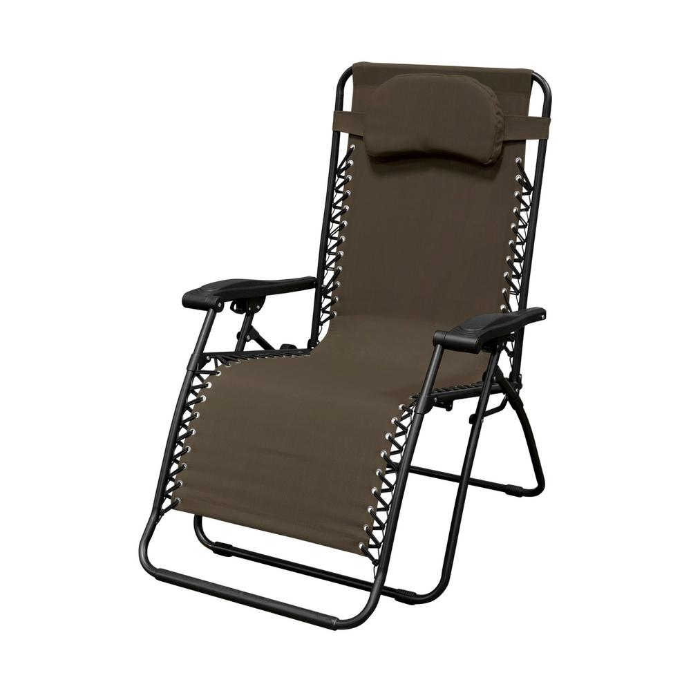 zero g garden chair catnapper lift caravan sports infinity oversized brown metal gravity patio