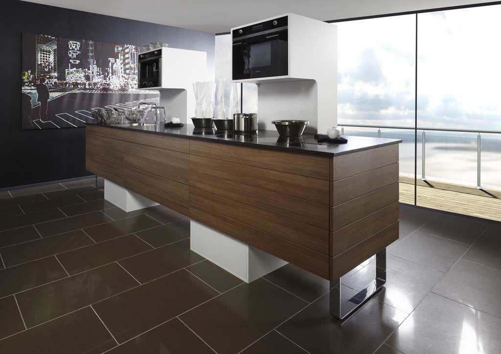 Kookeiland met granieten keukenblad keukens