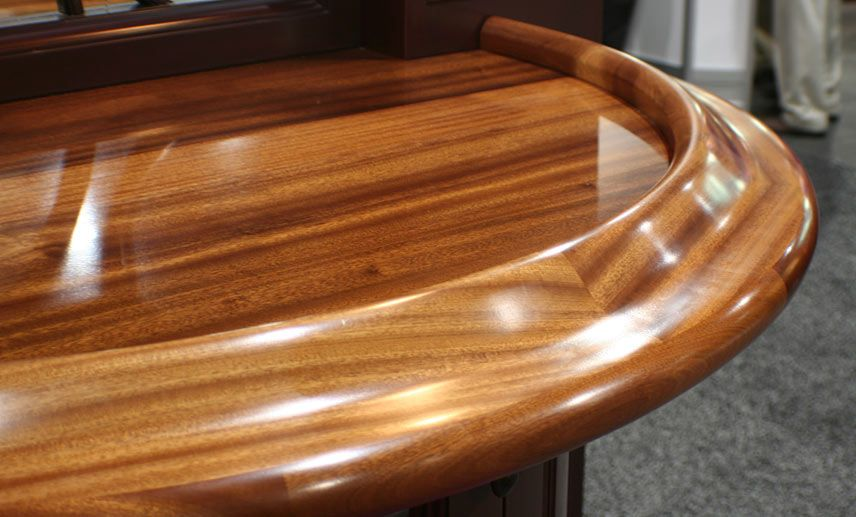 1 3/4 Inch Sapele Mahogany Wood Bar Top In Red And Brown Colors