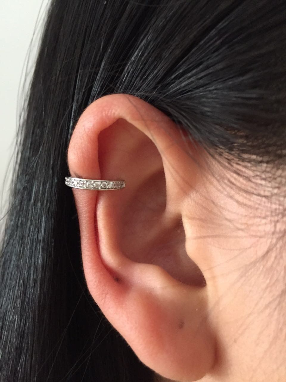 Cartilage piercing ideas  Tahlea Princess Crystal Ear Cuff Earring  Products  Pinterest