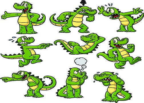 alligator cartoon | Crocodile cartoons | Magic Potion Book ... - photo#43