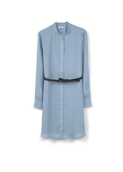 Mango Cizgili Gomlek Elbise Moda Stilleri Gomlek Elbise The Dress