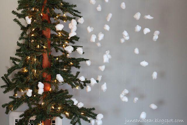 snowy backdrop