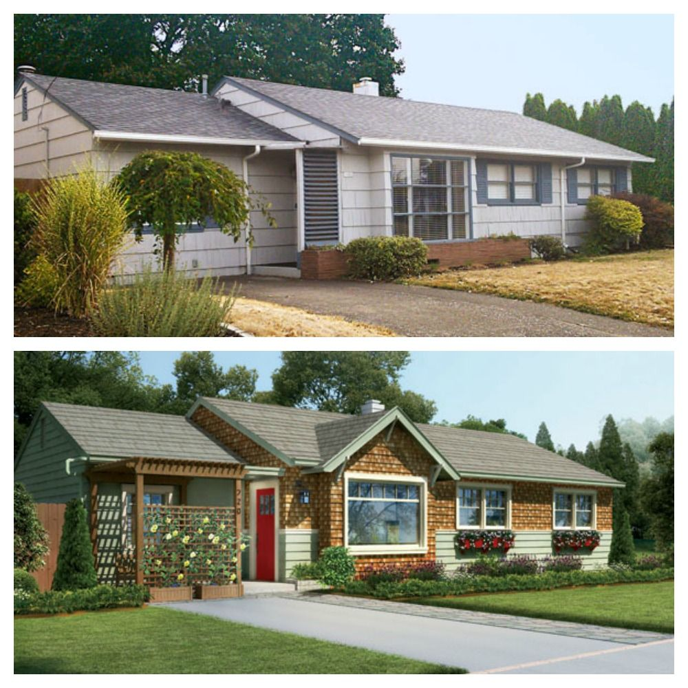 Exterior Home Makeovers: Photoshop Redo: Revamp For A Ho-Hum Ranch