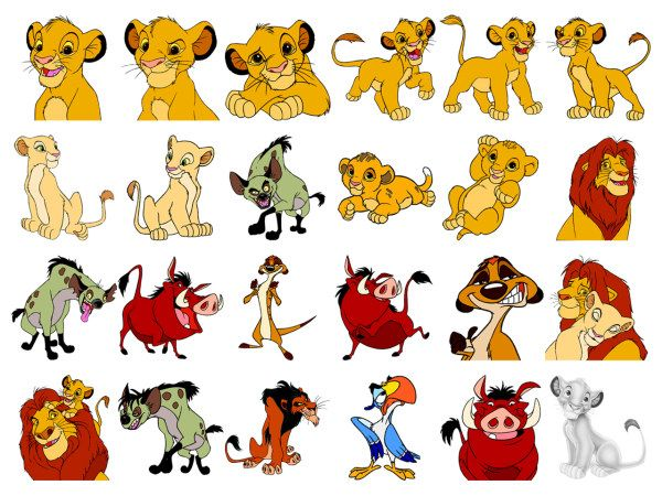 walt disney cartoon the lion king icon png download free vector 3d
