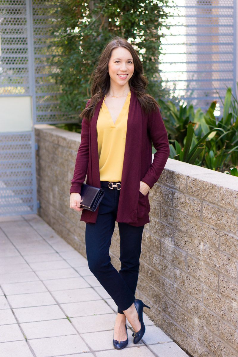 967c4cc0afe How to Wear Navy   Mustard Yellow Together + 9 Tops