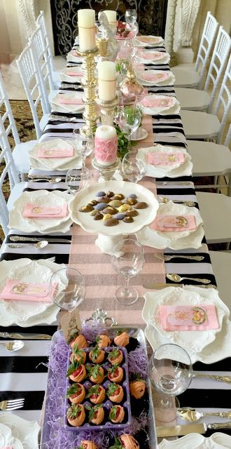Easter Dinner in the Great Hall - Purple Chocolat Home - large group dining