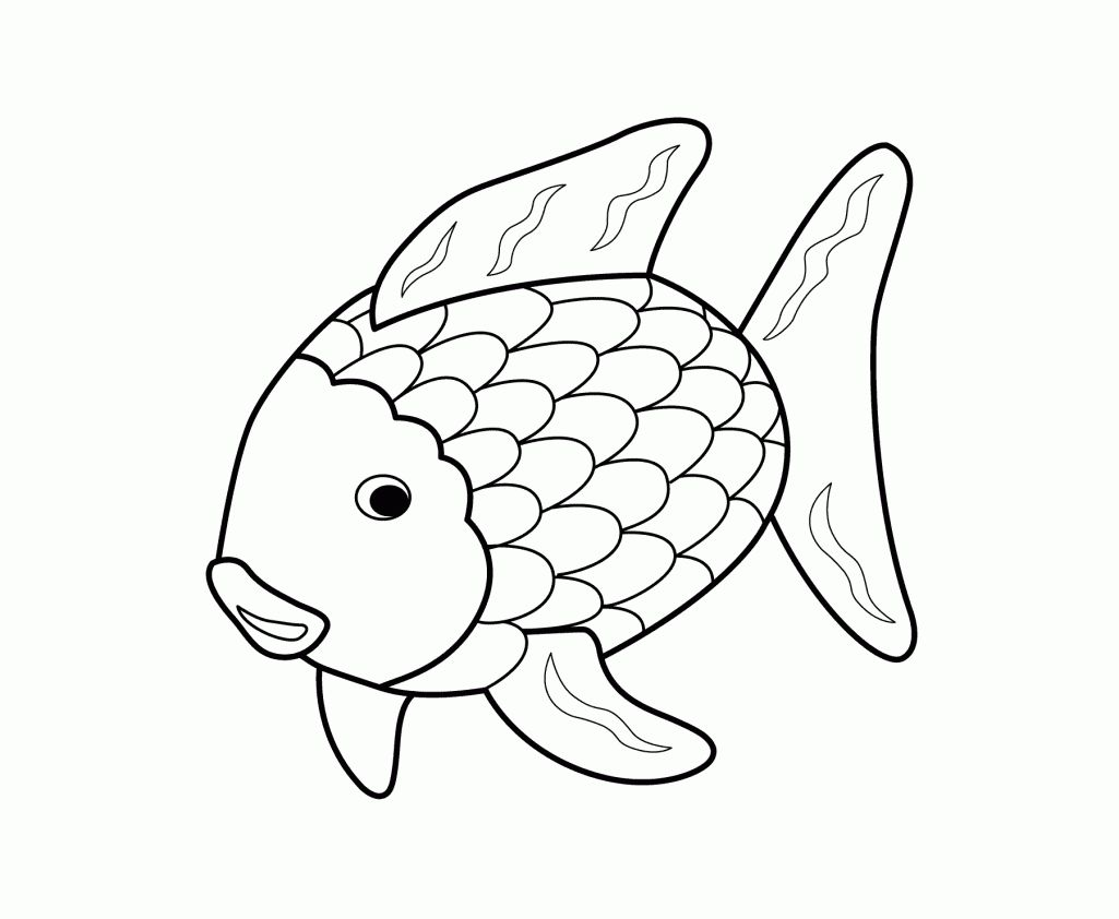 Printable 17 Rainbow Fish Coloring