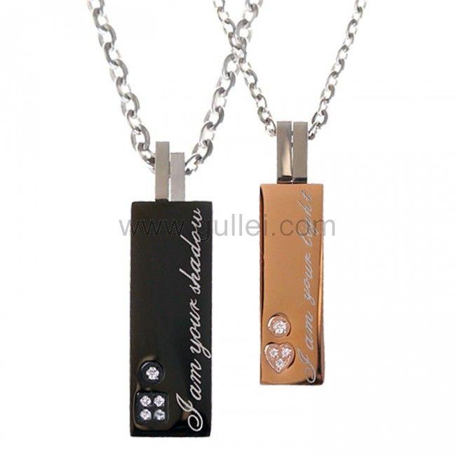 Customized matching couples pendants jewelry gift aloadofball Images